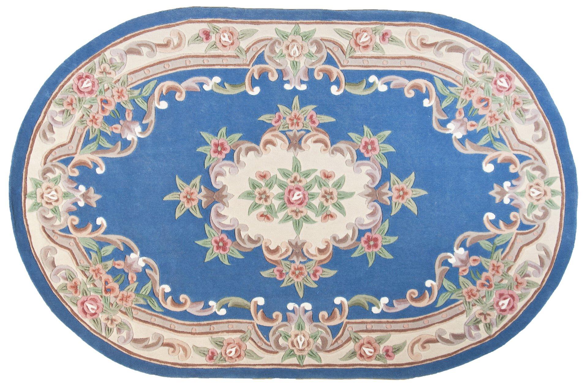 Handtuftteppich Ming Theko Textil Blau 1 x 2 cm