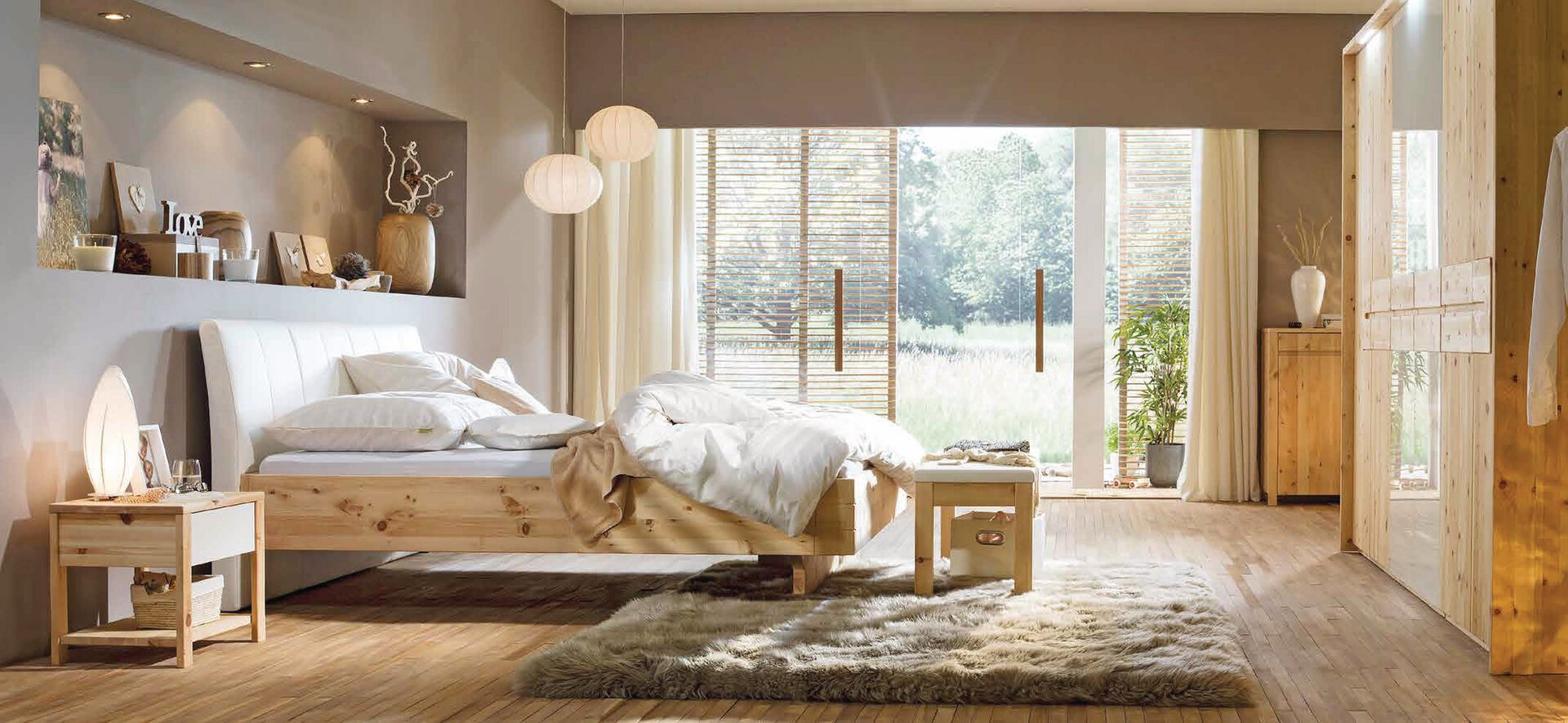 Schlafzimmer CEMBRA Lip Pohistvo Holz braun