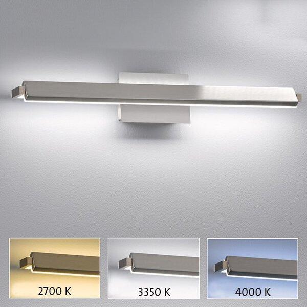 Wandleuchte Fischer-Honsel  Metall nickel ca. 11 cm x 10 cm x 60 cm