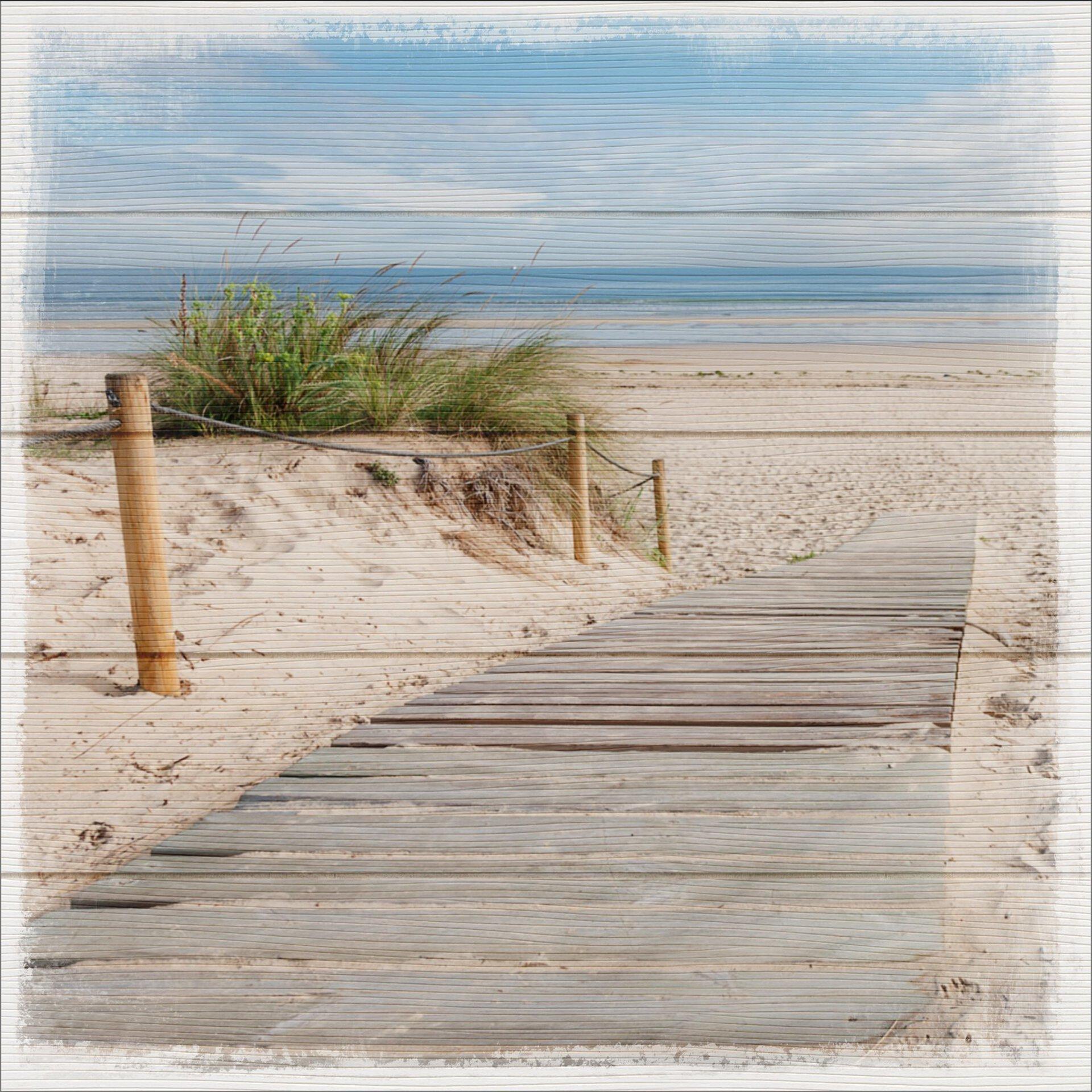Bild Sand Dunes I Pro-Art Holz mehrfarbig 50 x 50 x 1 cm