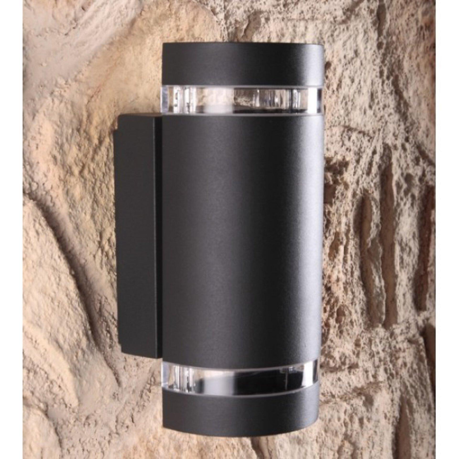 Wand-Aussenleuchte Focus Eco-Light Metall grau 11 x 24 x 11 cm