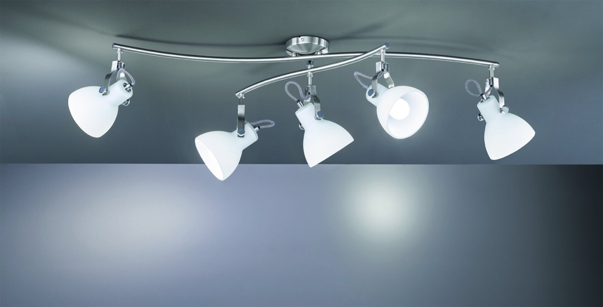 Deckenleuchte Ginelli Trio Leuchten Metall 48 x 24 x 90 cm