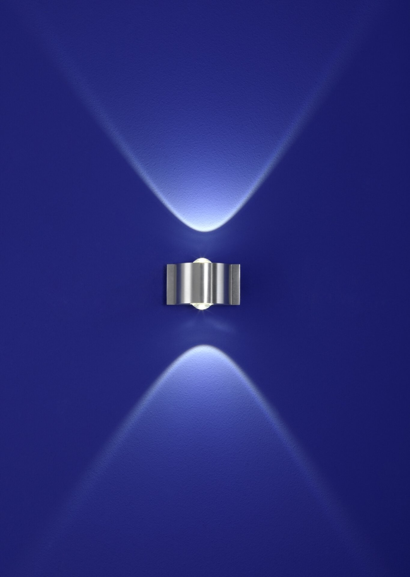 Wand-Aussenleuchte Stream B-Leuchten Metall silber 9 x 5 x 7 cm