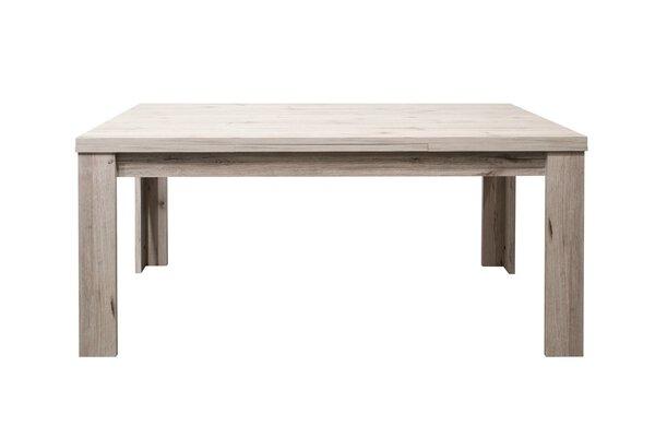 Tisch mit Auszug Mäusbacher Glas, Holzwerkstoff Sandeiche Nachbildung ca. 90 cm x 76 cm x 160 cm