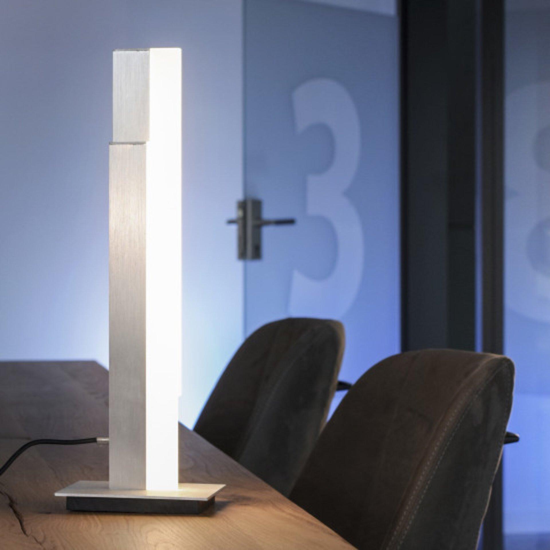 Smart-Home-Leuchten Q-TOWER Paul Neuhaus Metall silber 12 x 48 x