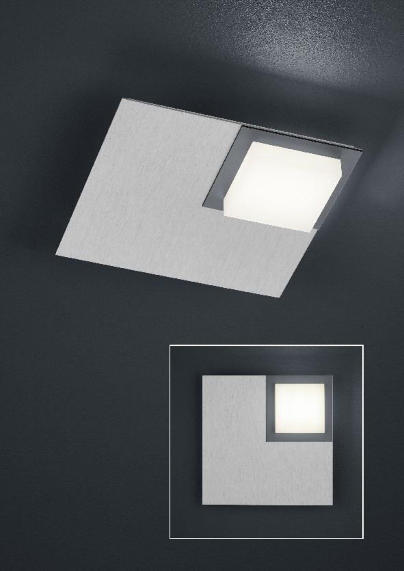 Smart-Home-Leuchten Quadro Bankamp Metall silber 20 x 6 x 20 cm