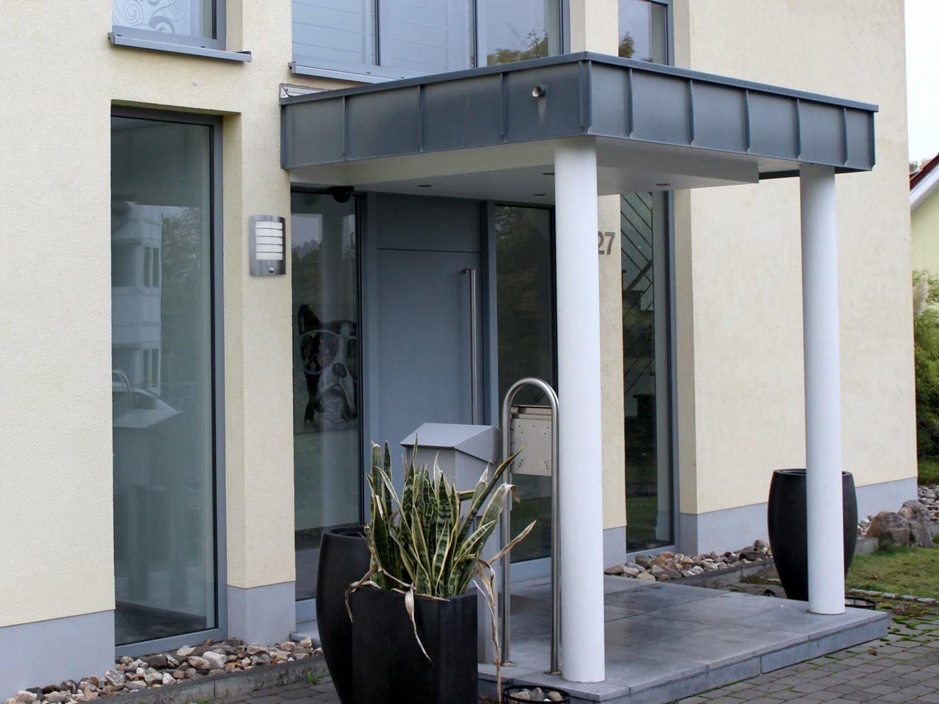 Wand-Aussenleuchte Slim Eco-Light Metall 18 x 27 x 6 cm