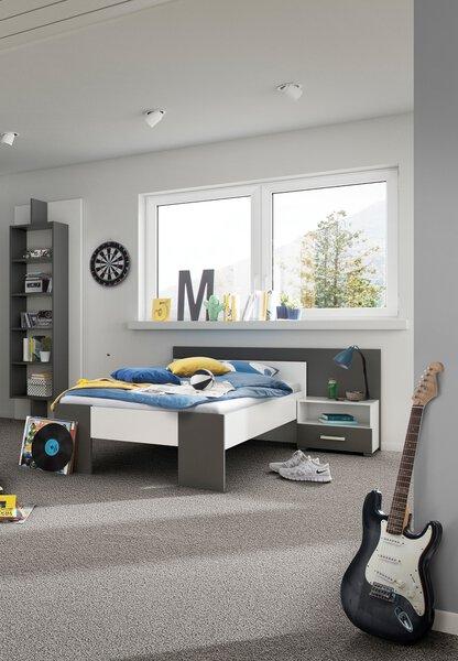Kinderbett Röhr Holzwerkstoff 9050 Weiß / Anthrazit