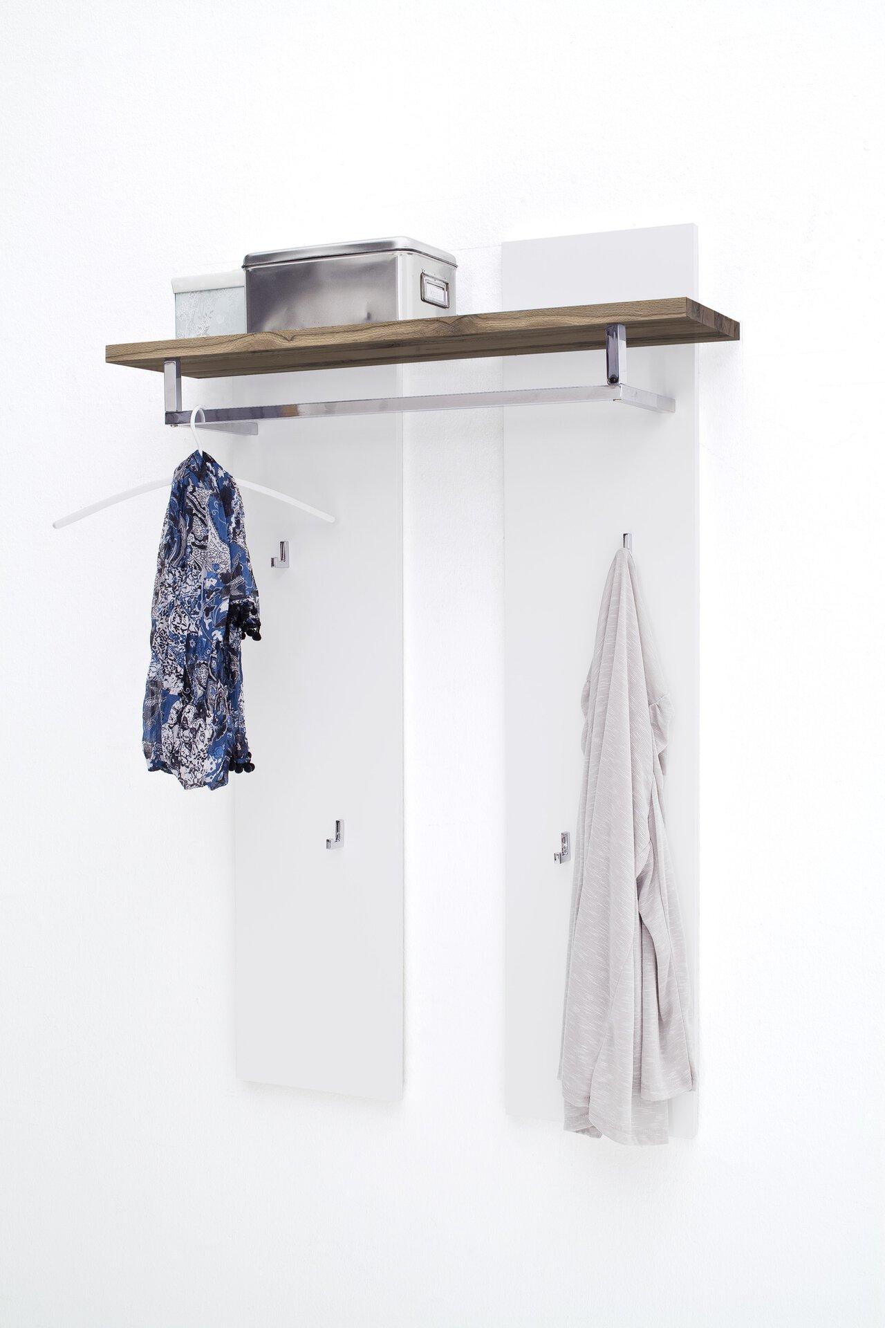 Garderobenpaneel ROMINA MCA furniture Holzwerkstoff weiß 25 x 135 x 91 cm