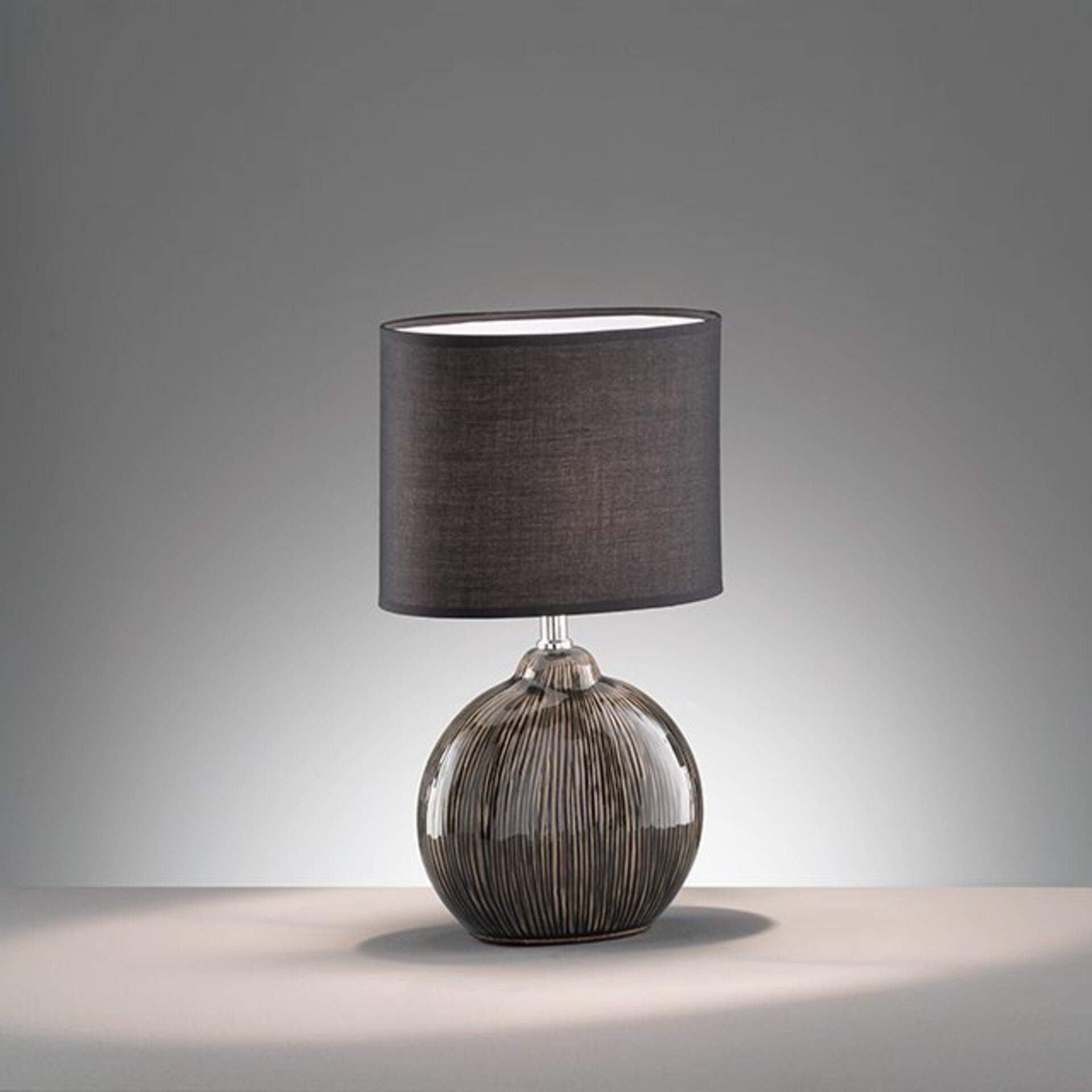 Tischleuchte Marin Fischer-Honsel Textil schwarz 13 x 39 x 23 cm