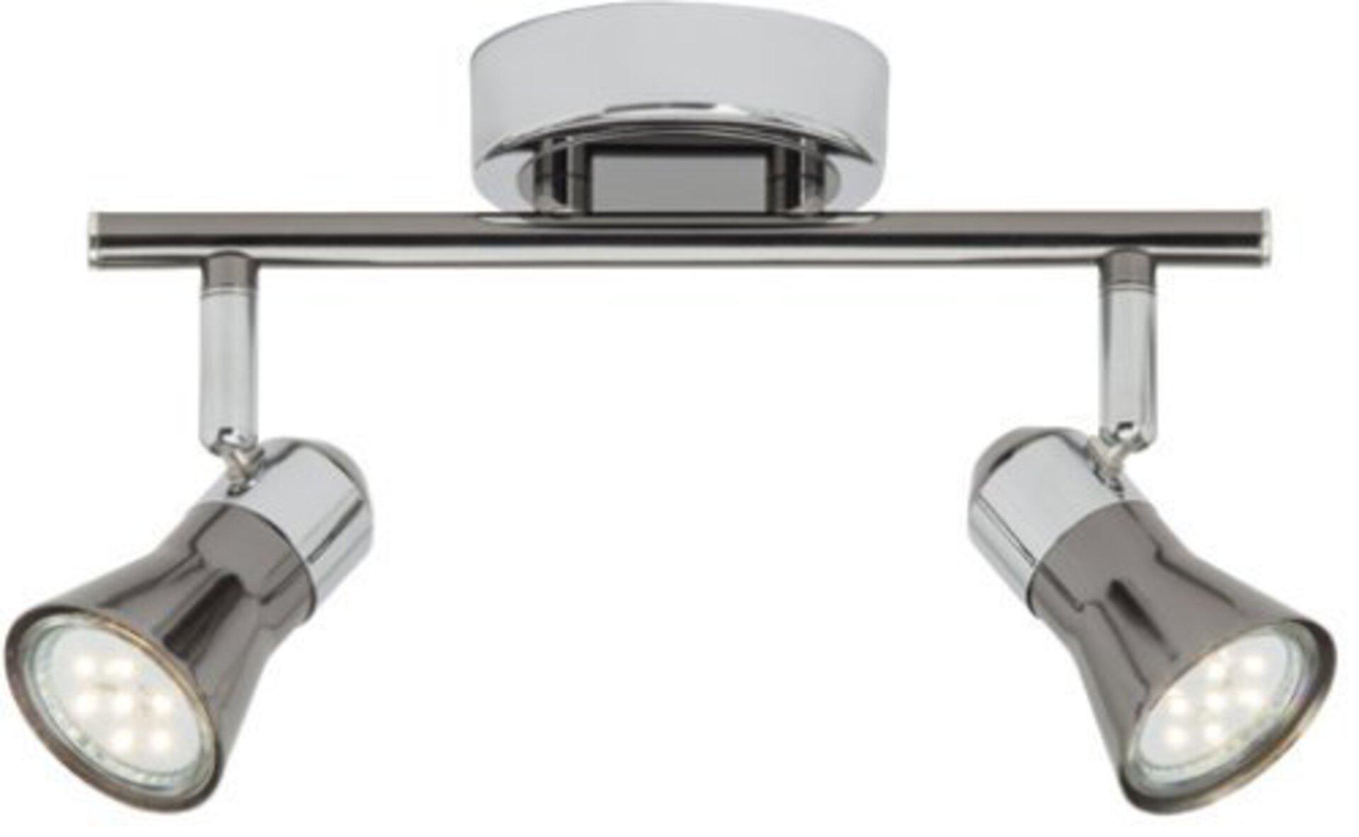 Strahler JUPP LED Brilliant Metall silber 14 x 16 x 32 cm