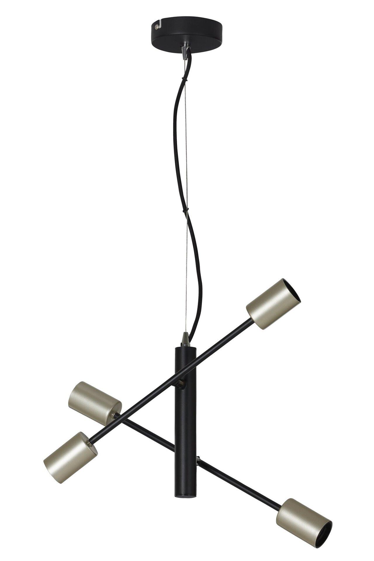 Hängeleuchte Klassik Stab Briloner Metall schwarz 120 x 41 cm