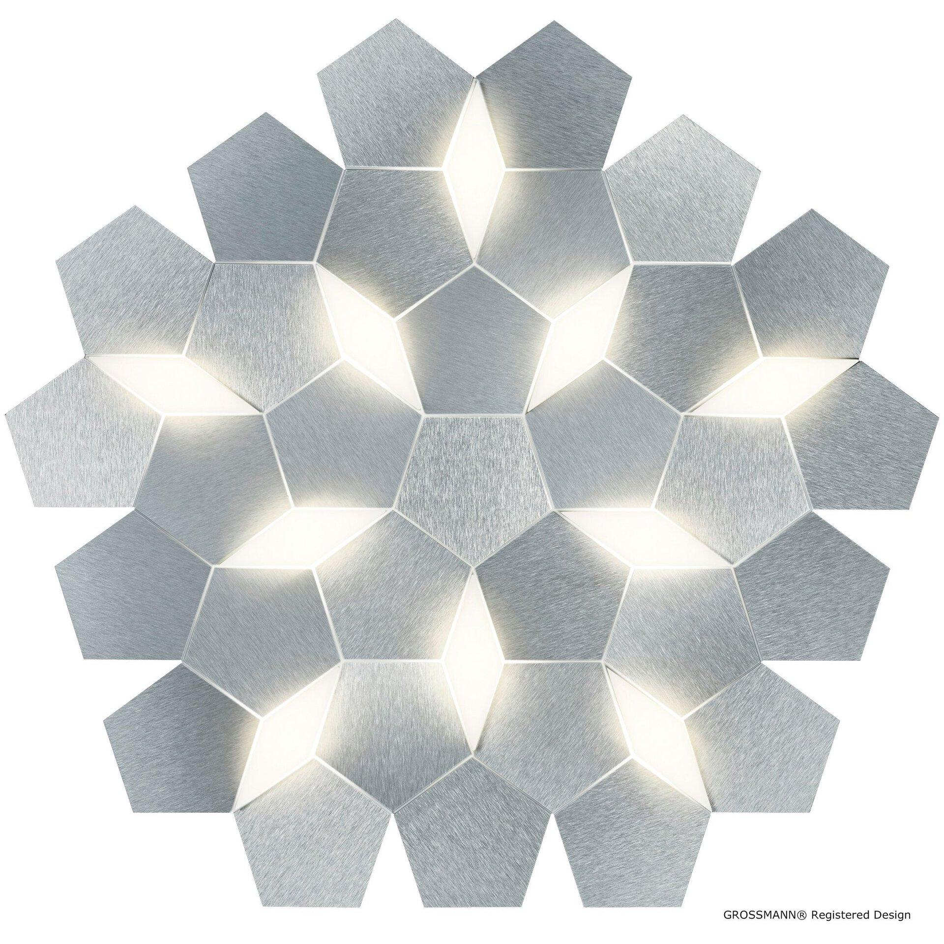 Deckenleuchte karat Grossmann Metall silber 59 x 7 x 62 cm