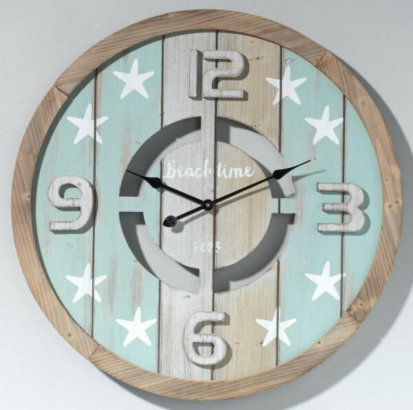 Uhr Casa Nova Holzwerkstoff blautöne