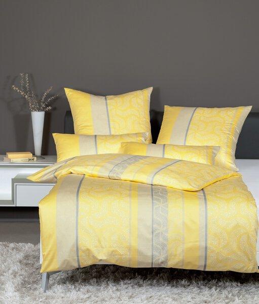 Jersey-Bettwäsche Janine Textil gelb