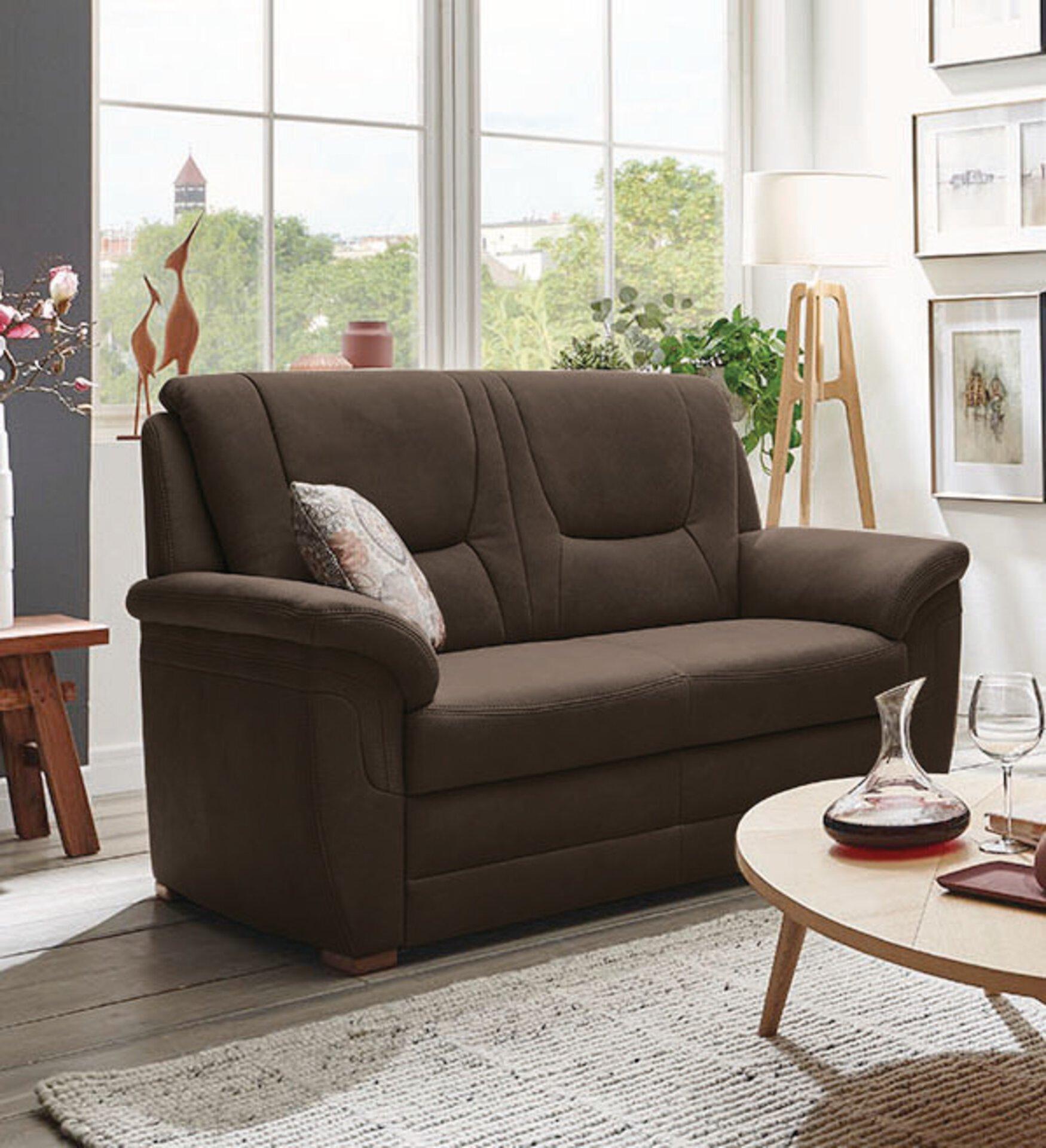 Sofa 3-Sitzer PP-QL11014 Systempolster Textil braun 92 x 103 x 198 cm