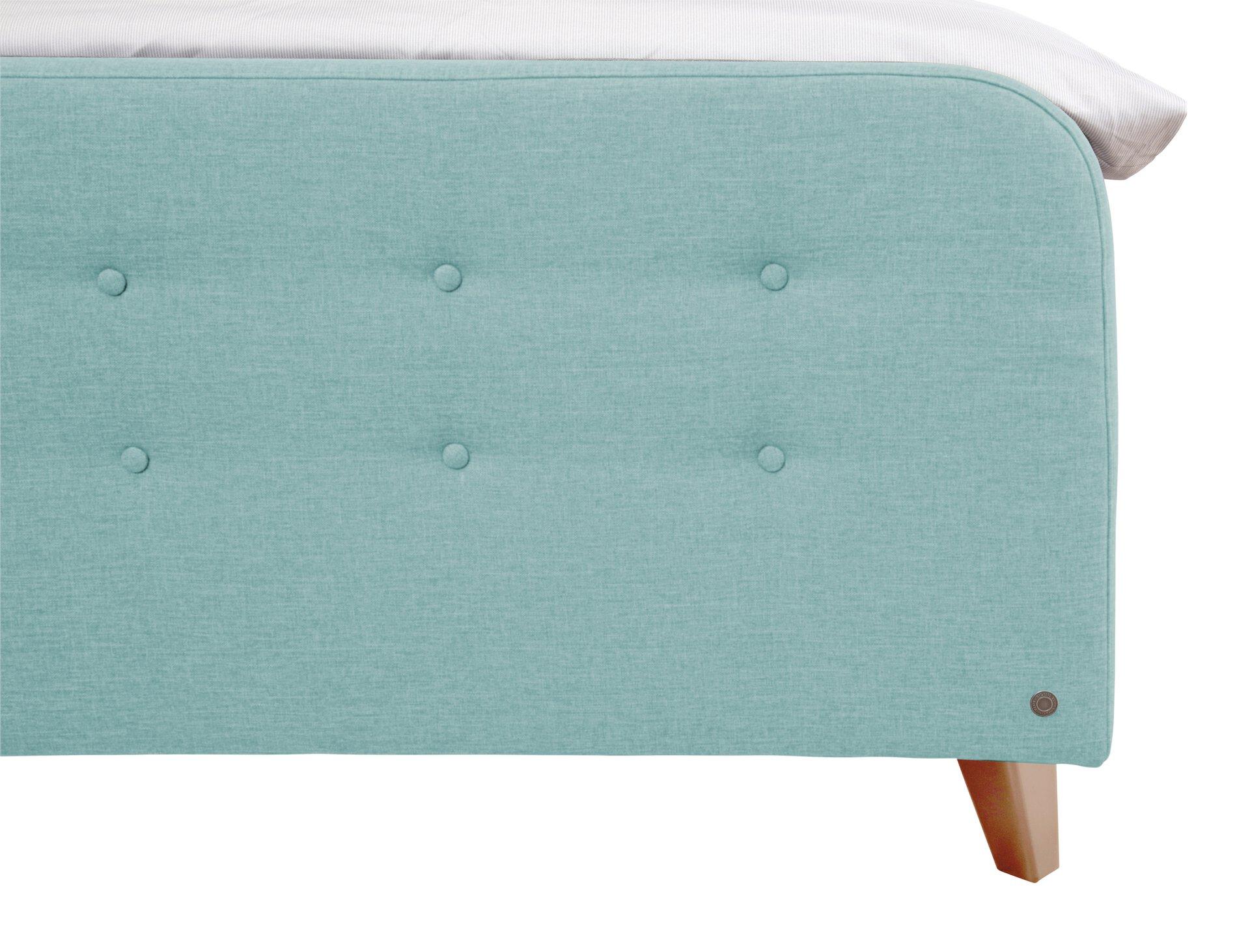 Boxspringbett NORDIC BOX Tom Tailor Textil Blau 182 x 105 x 216 cm