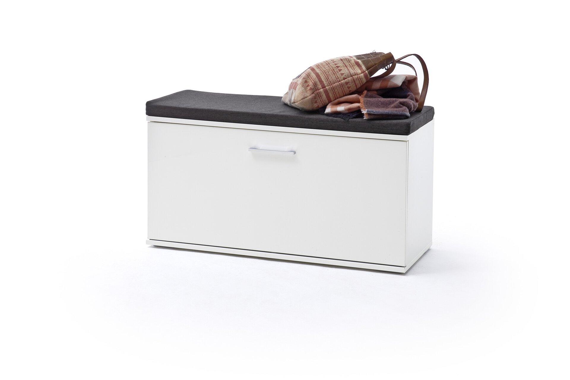 Garderobenbank GRANADA MCA furniture Holzwerkstoff weiß 38 x 50 x 90 cm