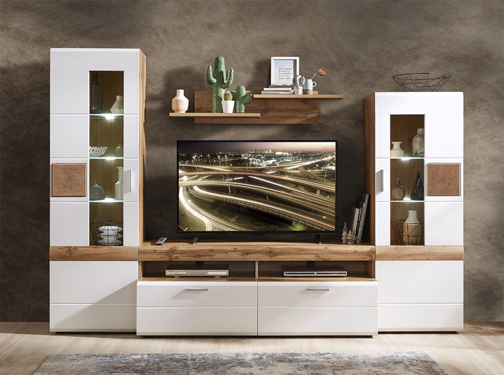 Wohnwand LE MANS CELECT Holzwerkstoff braun 50 x 194 x 280 cm