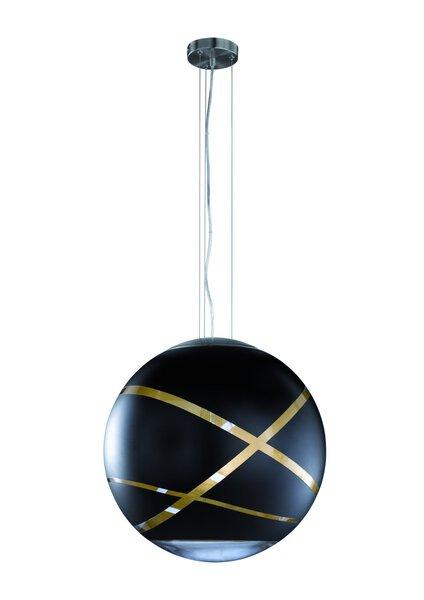 Hängeleuchte Trio Leuchten Metall schwarz, gold ca. 50 cm x 155 cm x 50 cm