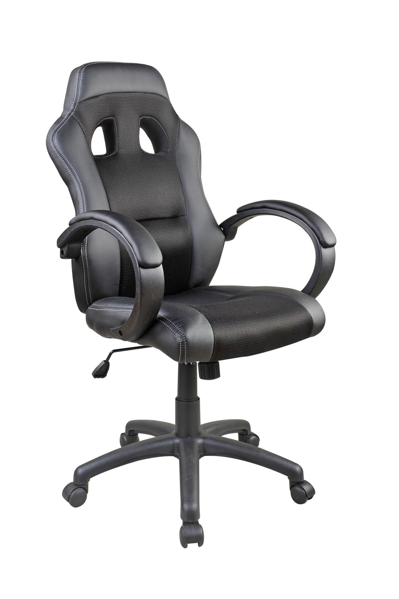 Büro-Drehstuhl ACTION CELECT Textil schwarz 68 x 120 x 63 cm
