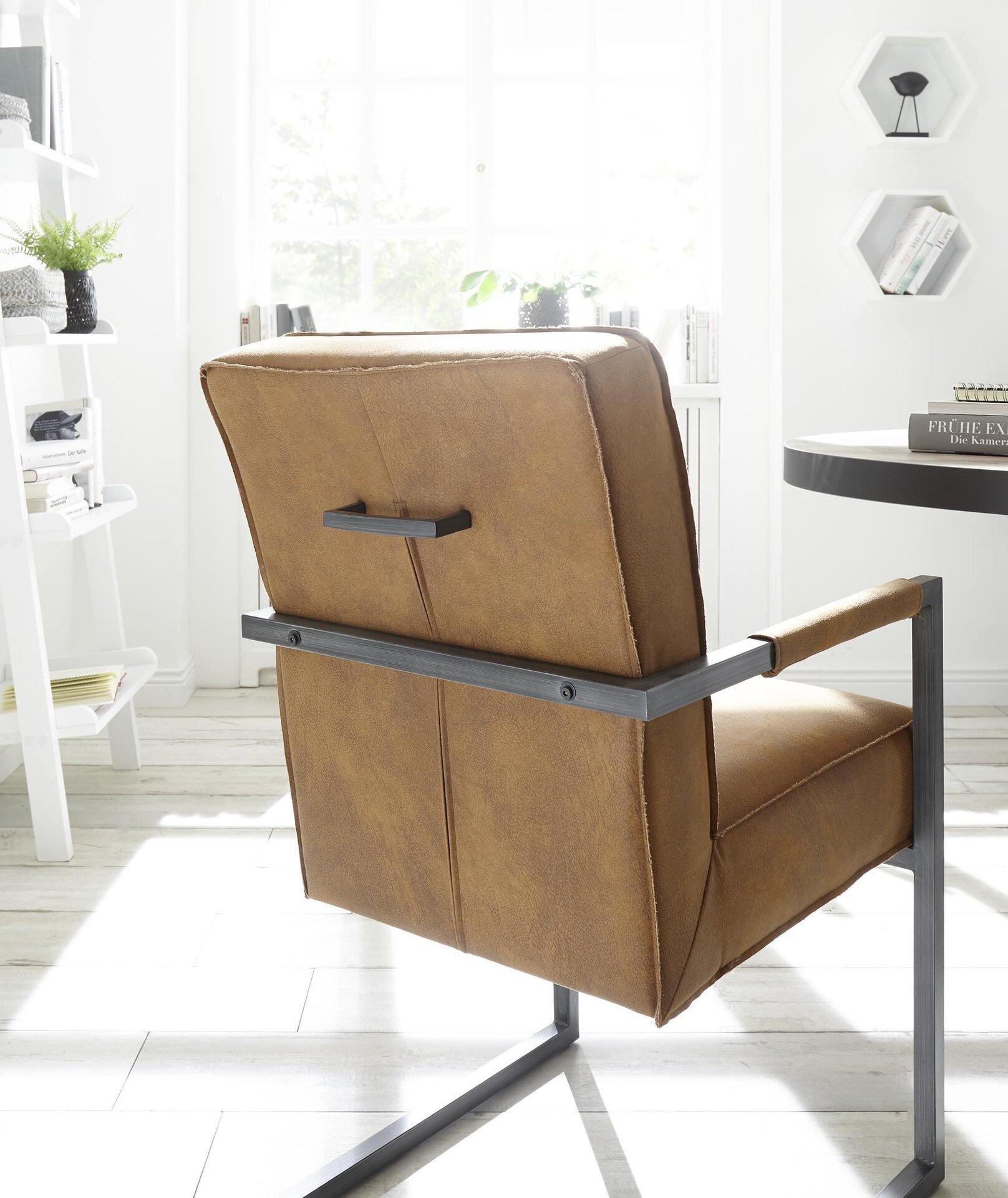 Stuhl BELUAN Dinett Textil mehrfarbig 70 x 92 x 52 cm