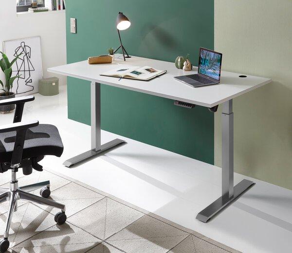 Schreibtisch CELECT Holzwerkstoff Lichtgrau ca. 77 cm x 120 cm x 160 cm