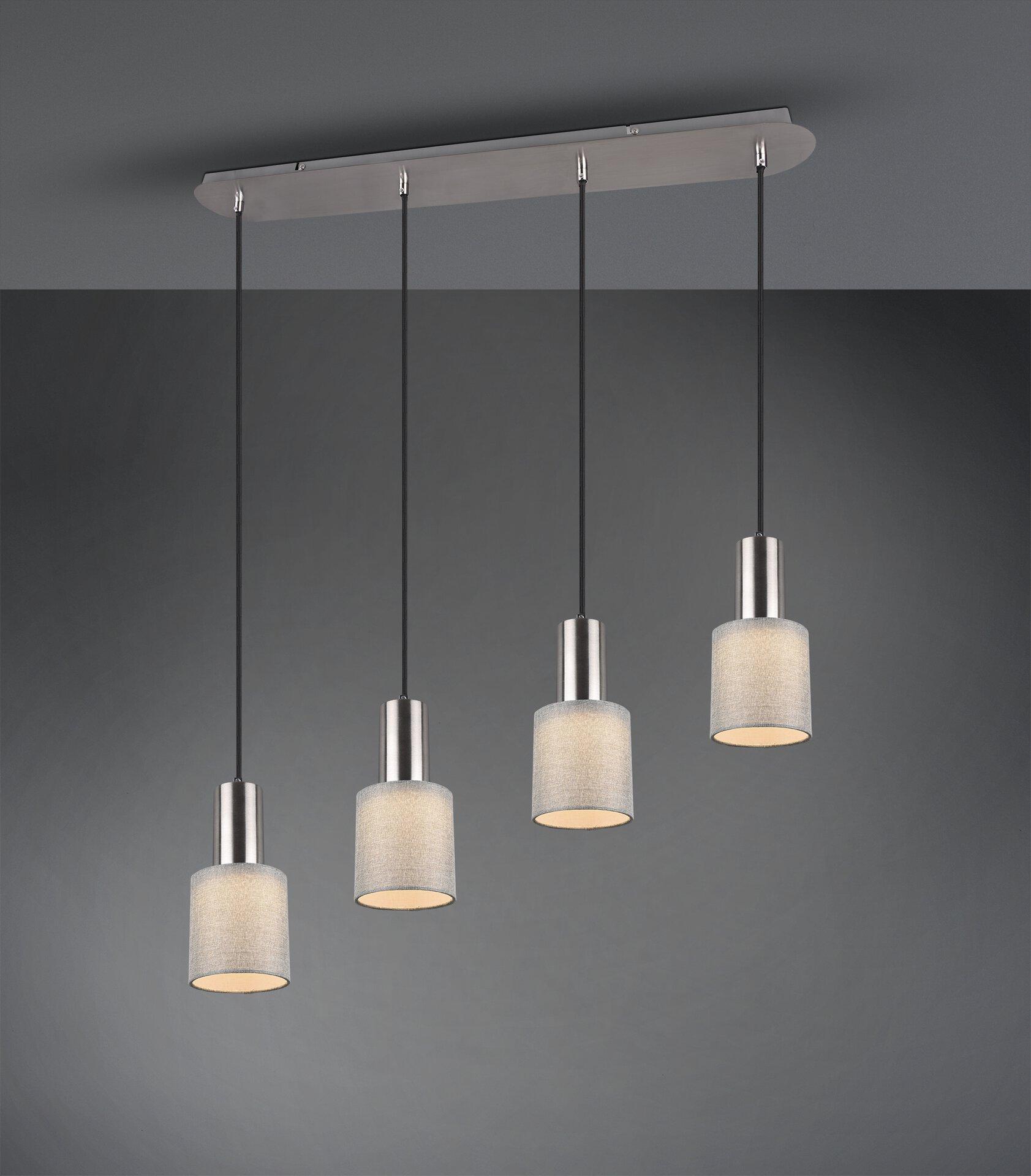 Pendelleuchte Wailer Trio Leuchten Metall silber 80 x 150 x 12 cm