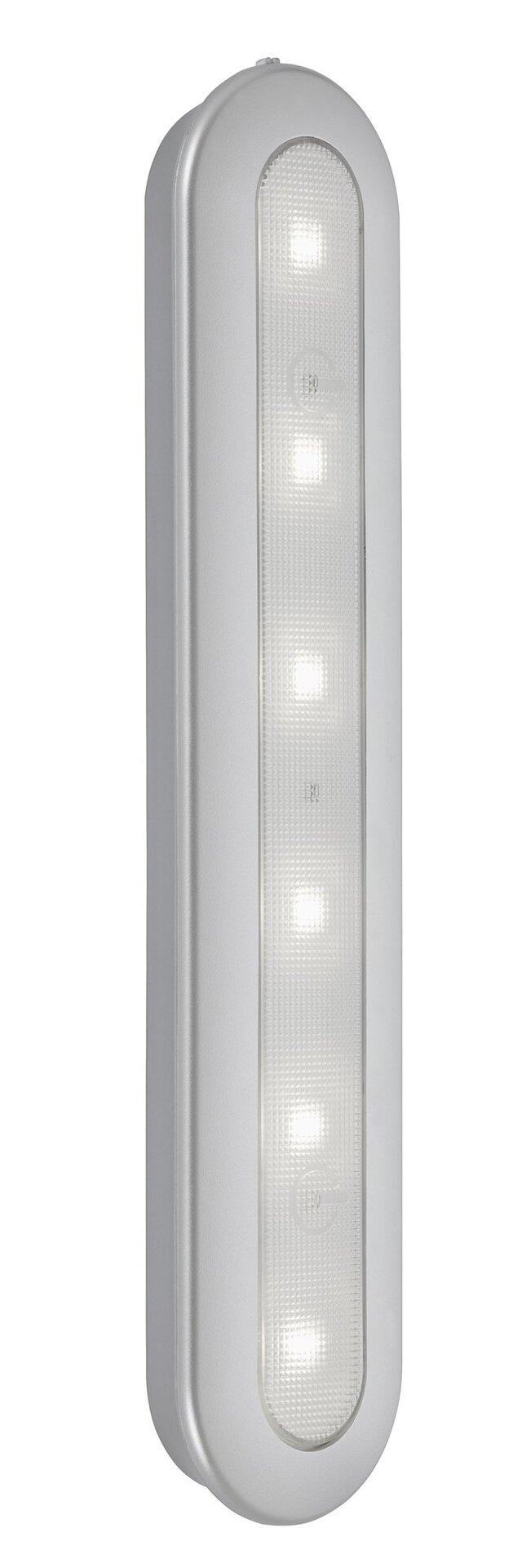 Unterbauleuchte Lero Briloner Metall silber 6 x 3 x 31 cm