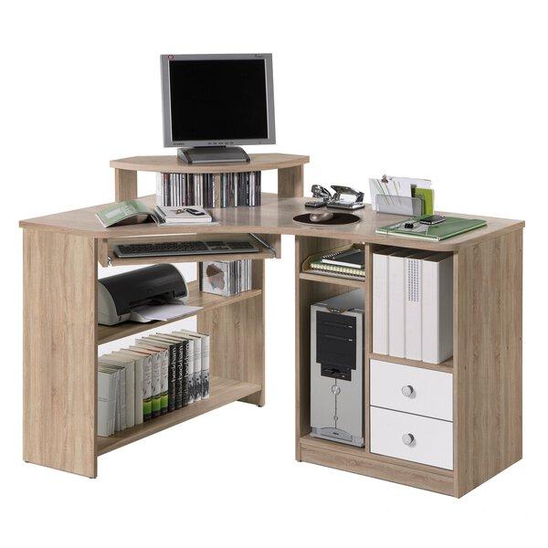 Eckschreibtisch CELECT Holzwerkstoff Sonoma Eiche Nachbildung/Weiss glanz ca. 95 cm x 73 cm x 137 cm