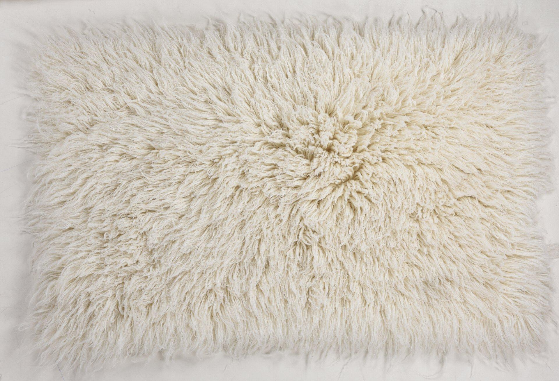 Fellteppich Flokati XXL Theko Textil weiß 120 x 180 cm