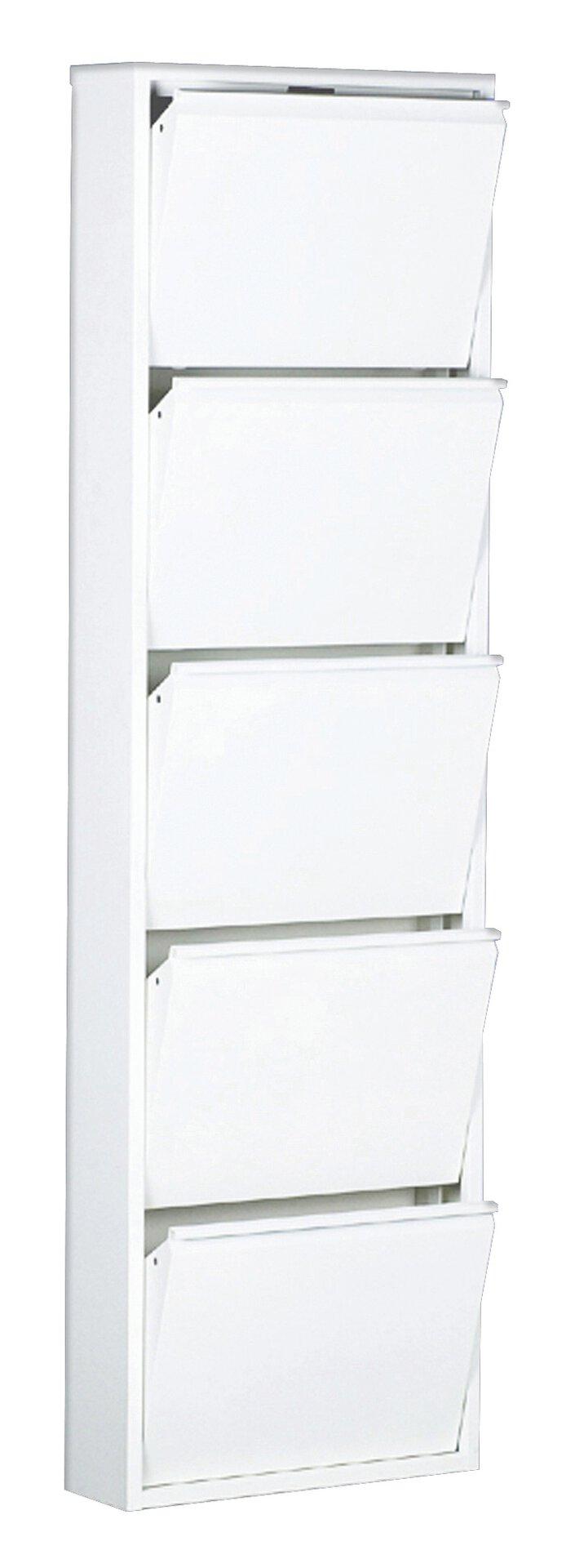 Schuhschrank WIT.5 inbuy Holzwerkstoff weiß 15 x 169 x 51 cm