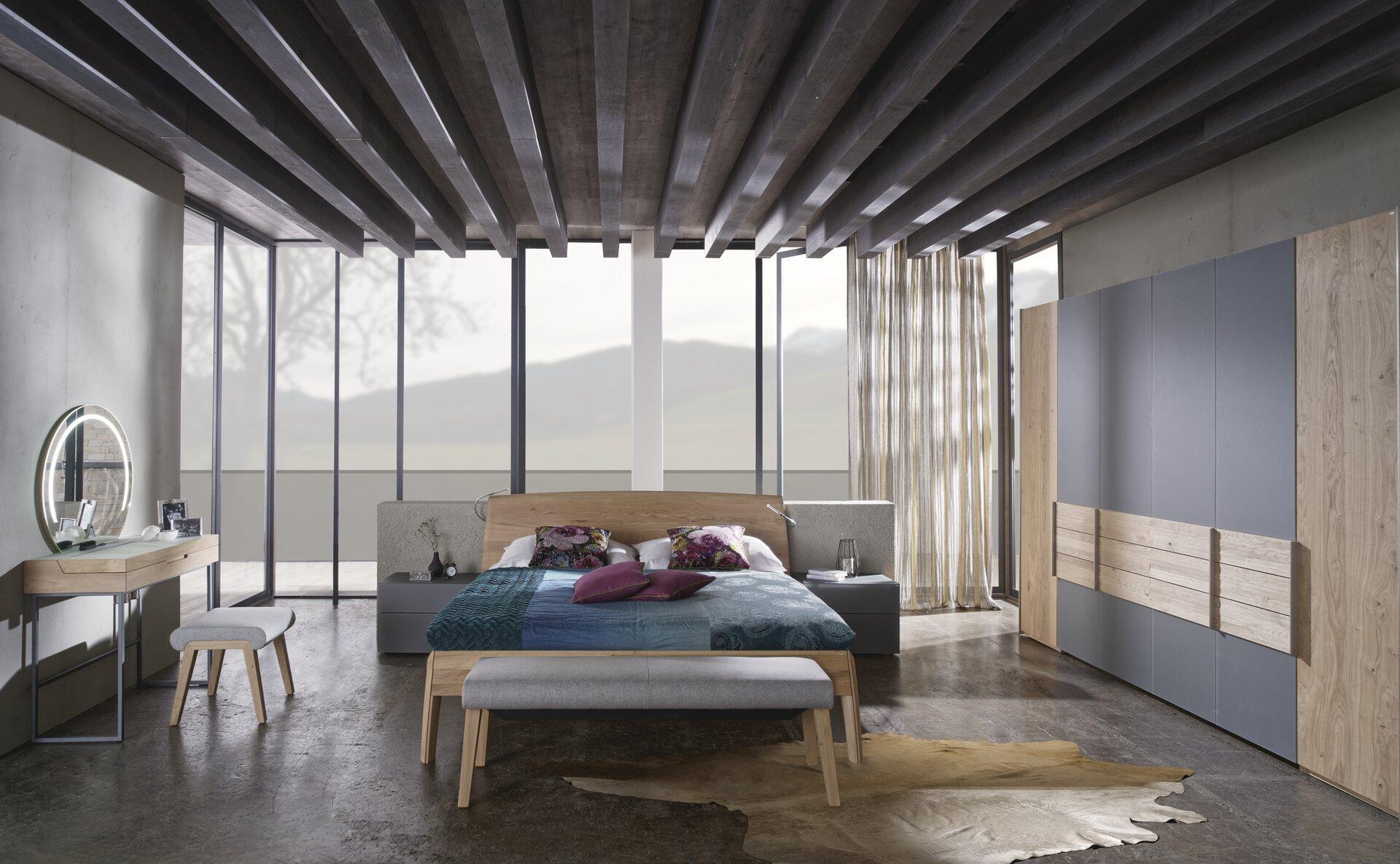 Bett V-Montana Voglauer Holzwerkstoff 213 x 105 x 213 cm