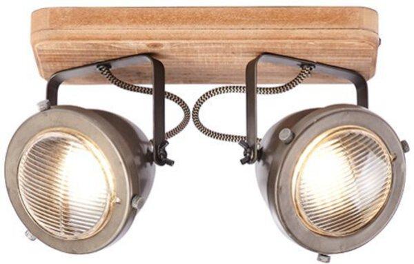 Deckenleuchte Brilliant Holz braun, stahl ca. 12 cm x 18 cm x 27 cm