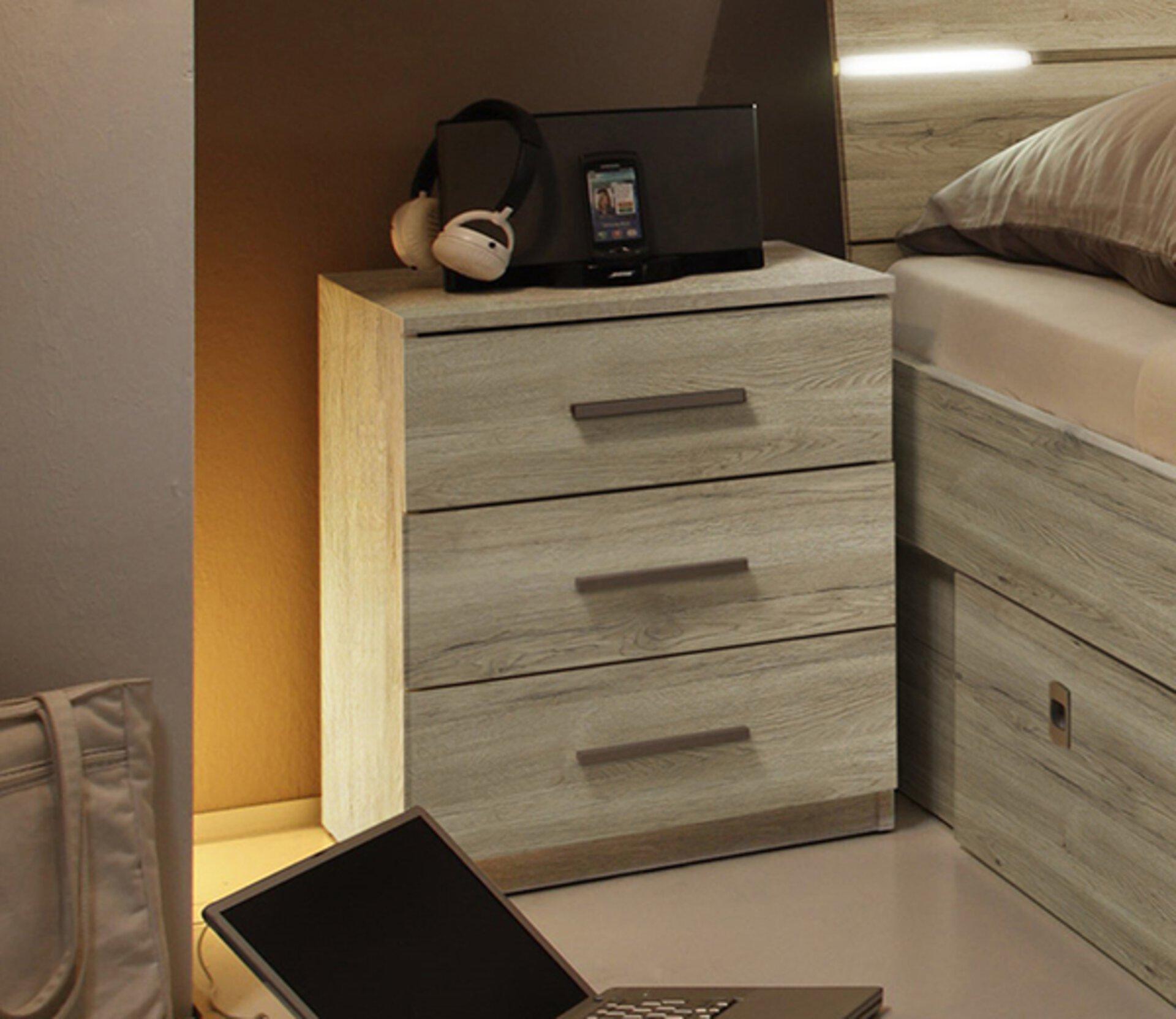 Nachttisch VENUS Dreamoro Holzwerkstoff braun 43 x 57 x 46 cm