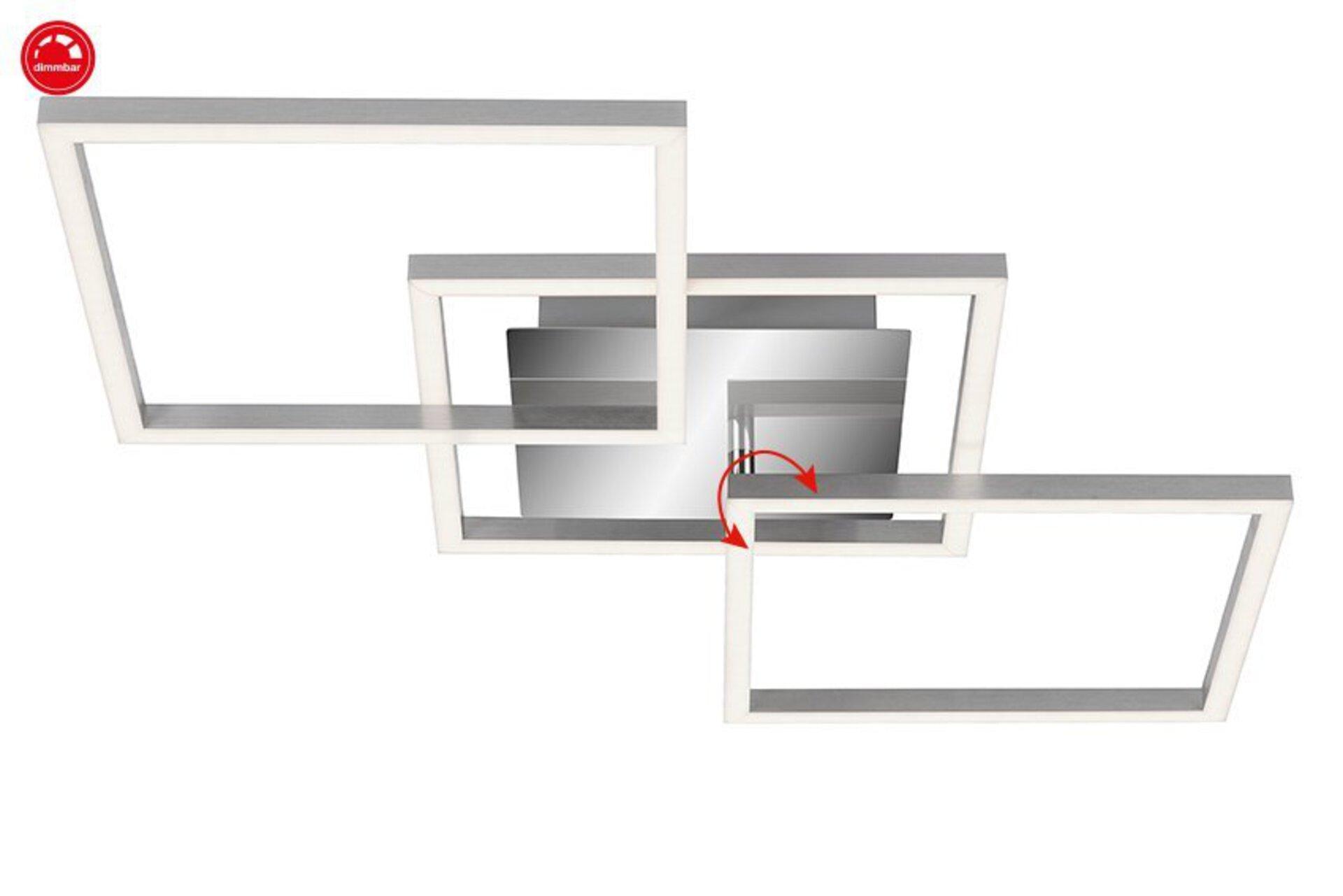 Deckenleuchte Frame Briloner Metall 37 x 7 x 76 cm