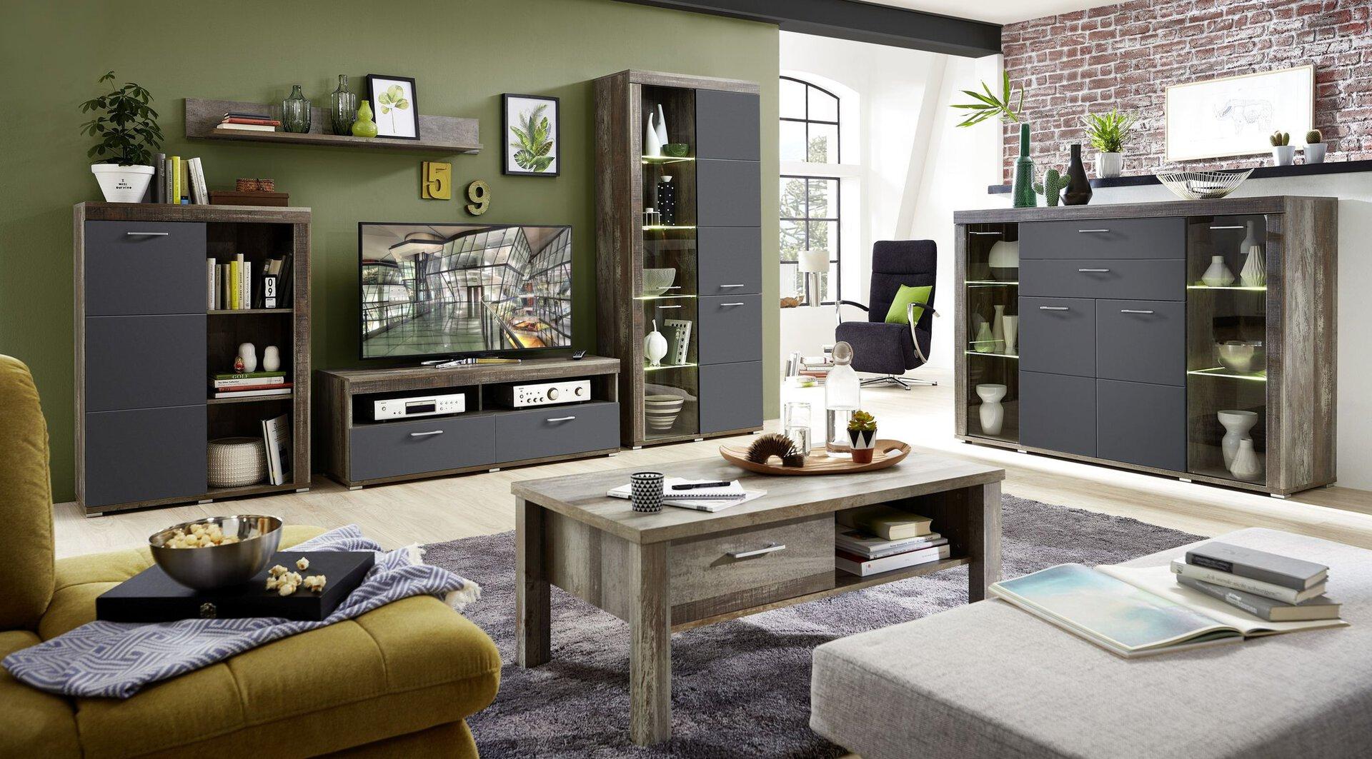 Couchtisch CROWN X CELECT Holzwerkstoff braun 60 x 47 x 113 cm