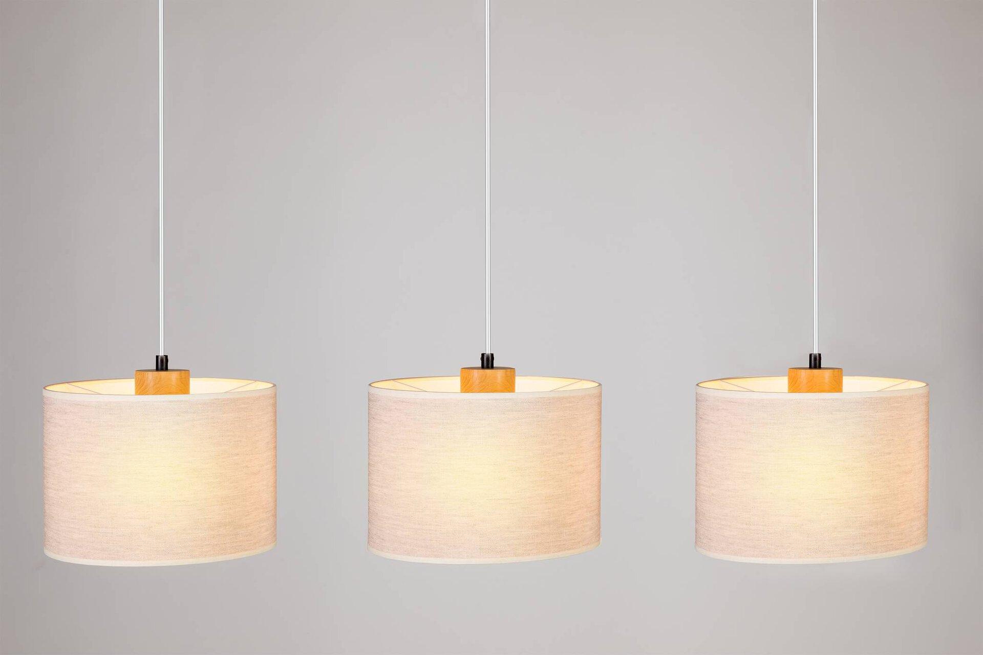 Hängeleuchte BELOS MONDO Textil beige 25 x 110 x 100 cm