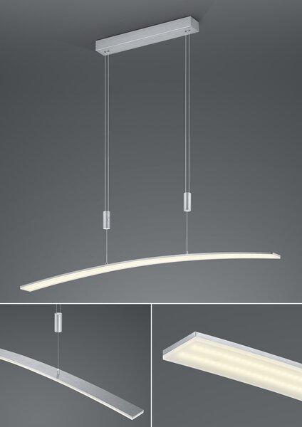 Hängeleuchte B-Leuchten Metall alu eloxiert ca. 6 cm x 150 cm x 100 cm