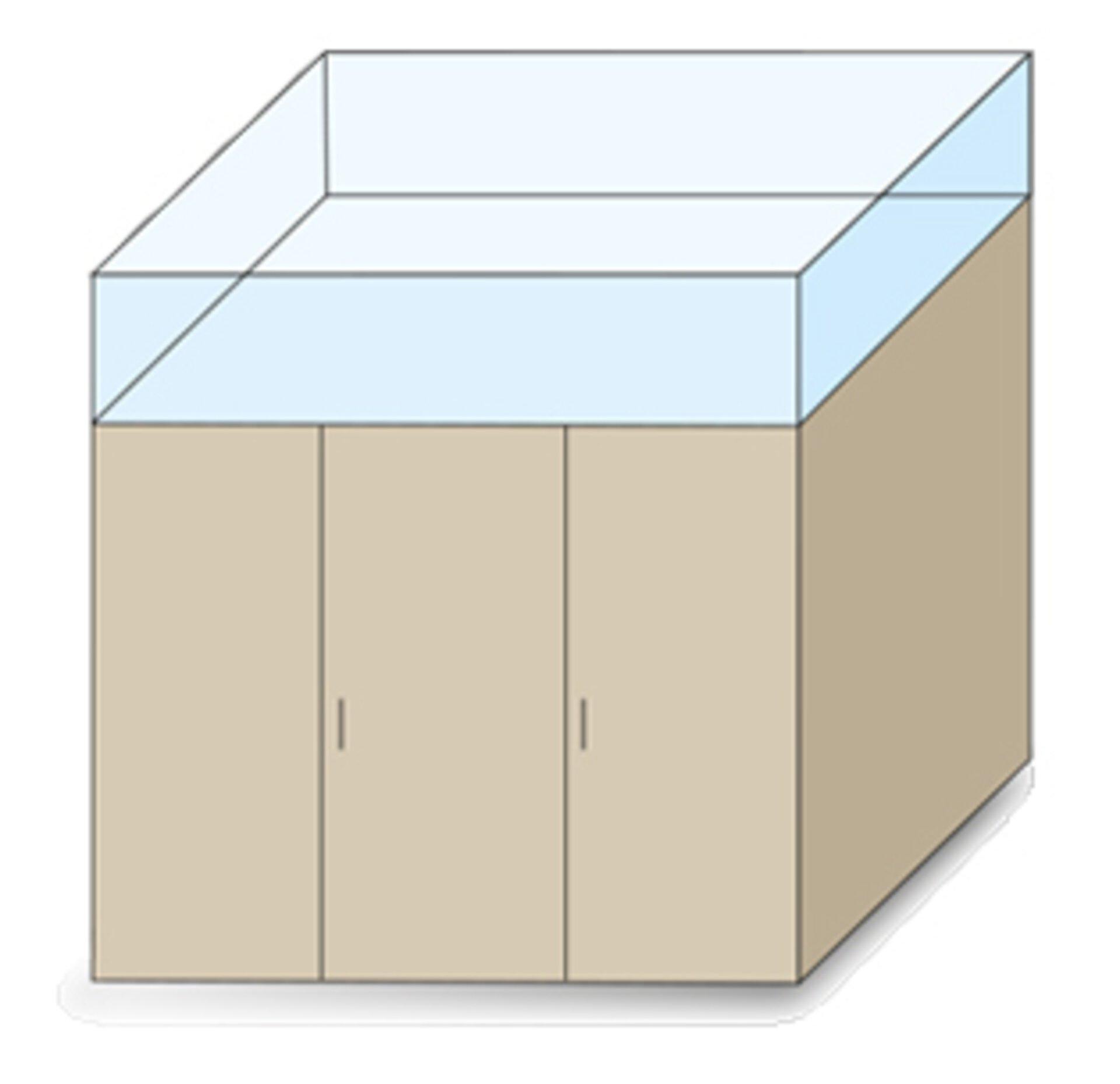 Zeichnung maßgeschneidertes Schranksystem - Höhenkürzung