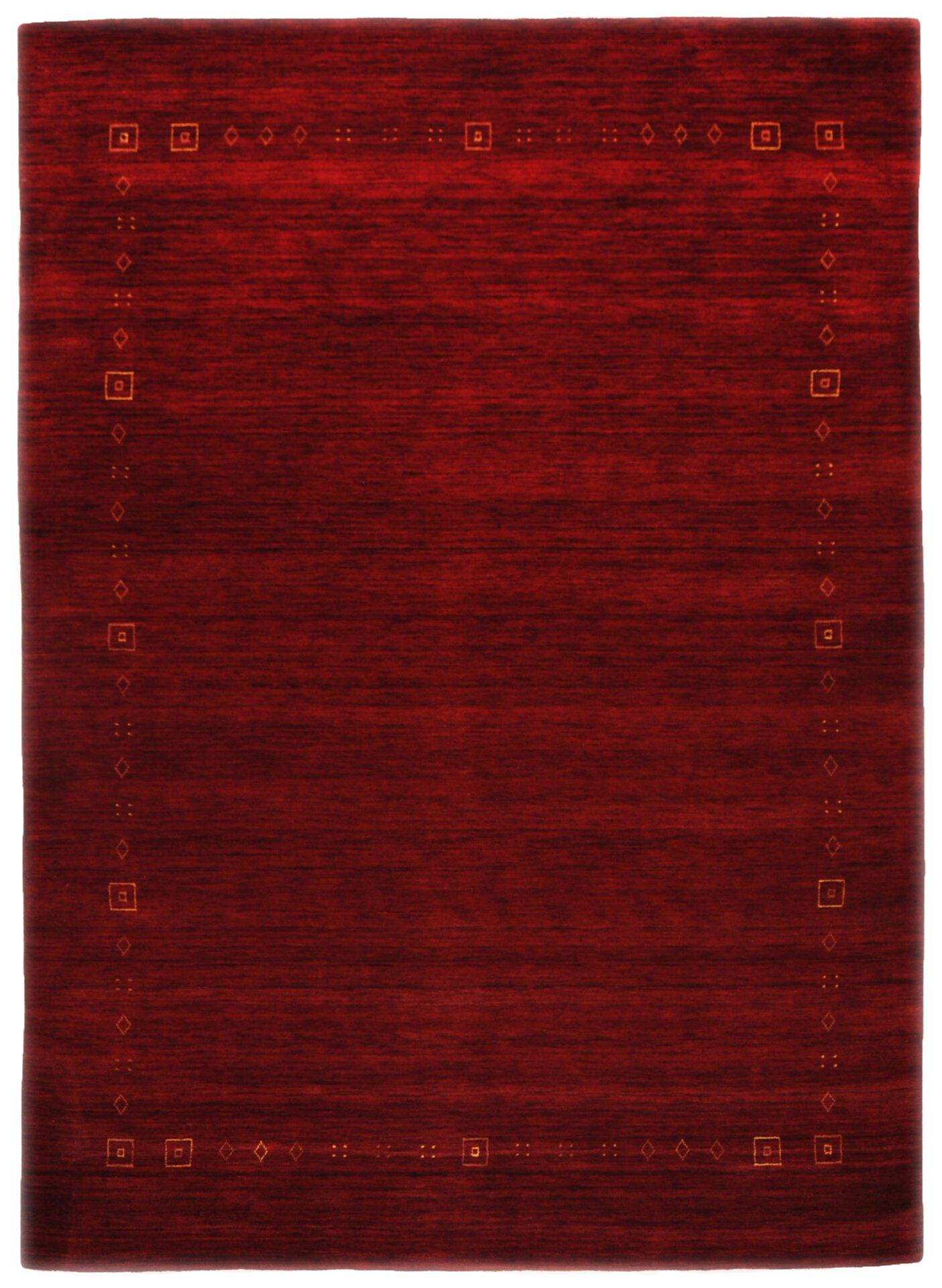 Handwebteppich Lori Star Theko Textil rot 1 x 2 cm