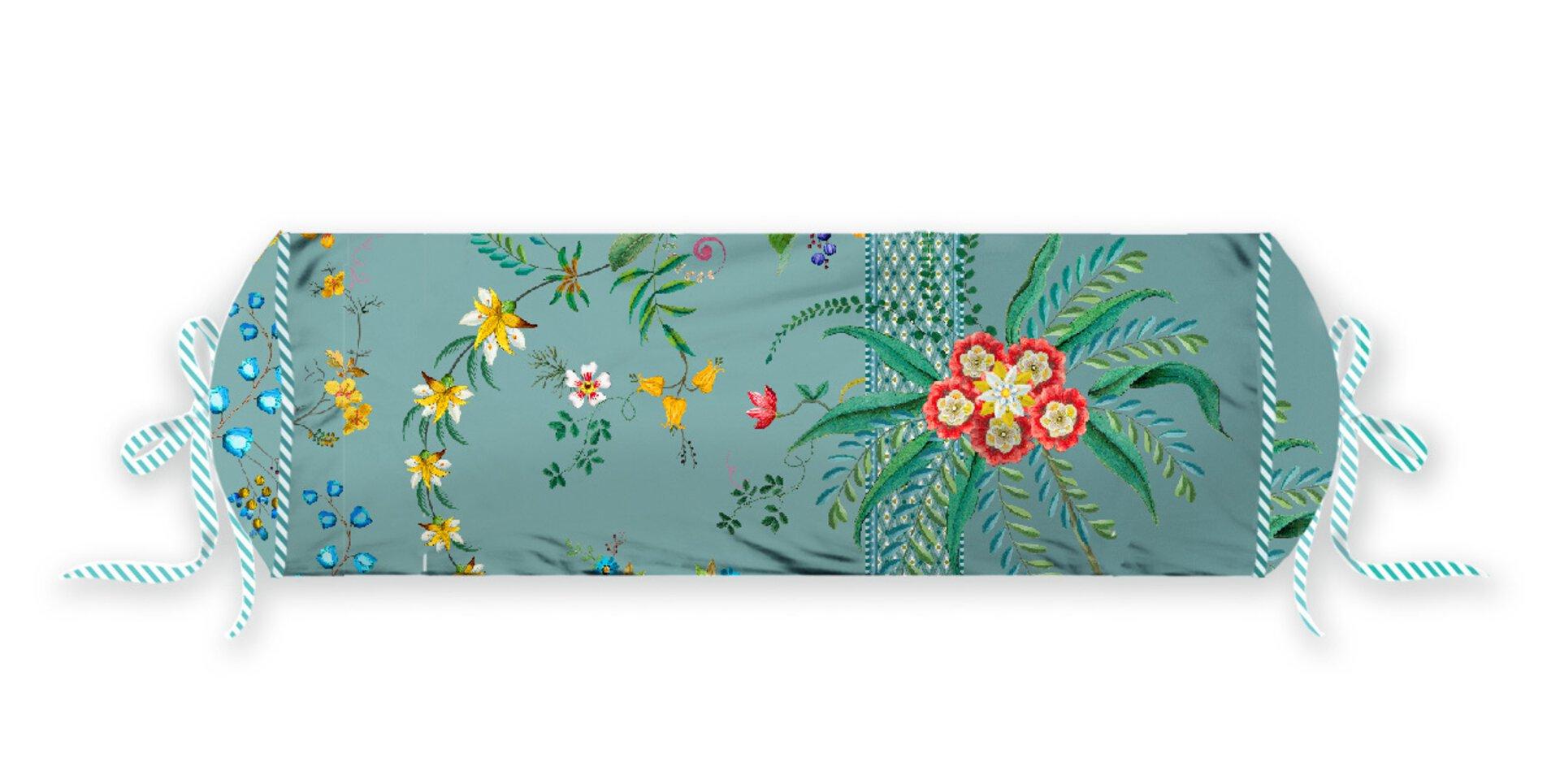Nackenrolle Petites Fleurs PIP STUDIO Textil Blau 22 x 70 cm