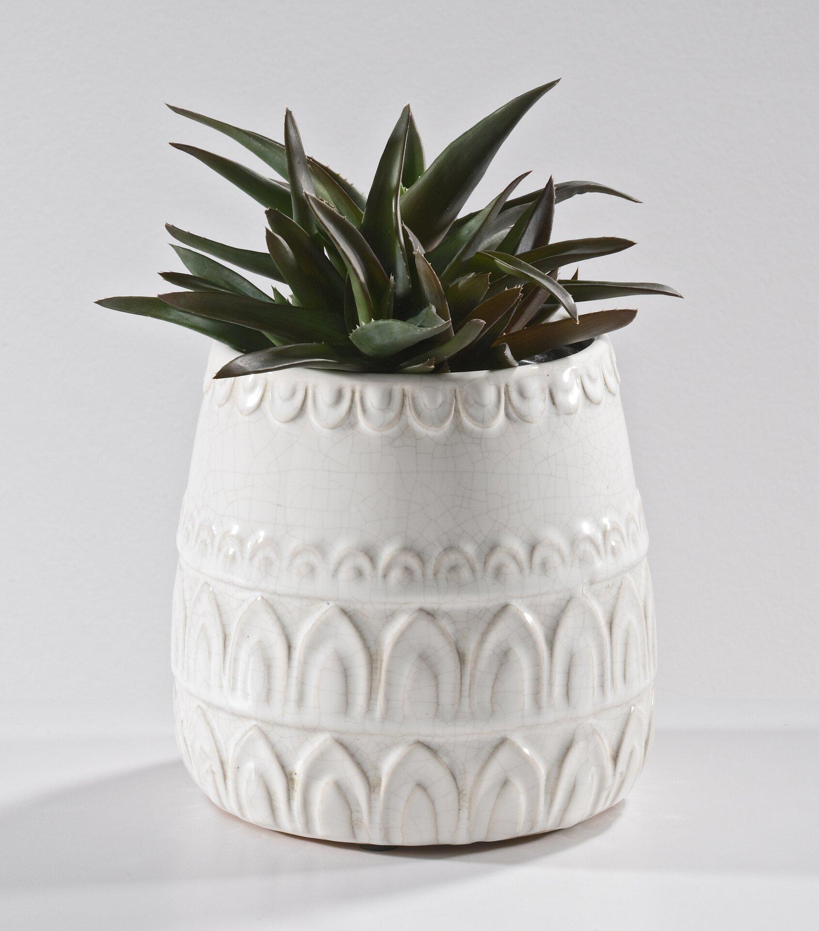 Vase 185109 Casa Nova Keramik weiß 16 x