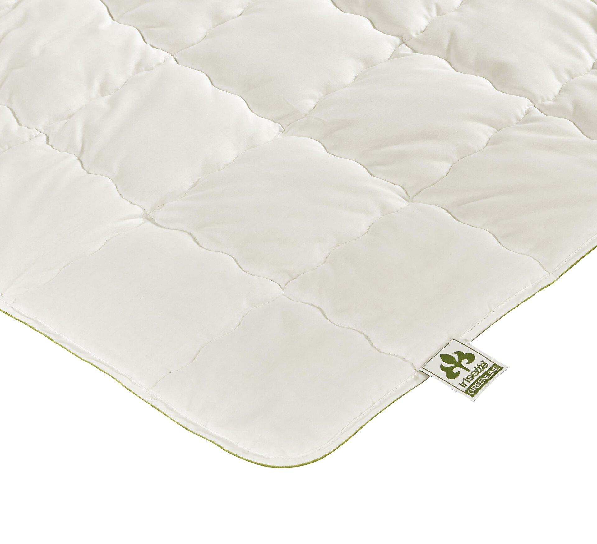 Lightdecke Baumwolle ECO leicht Badenia Irisette Greenline Textil weiß 155 x 200 cm