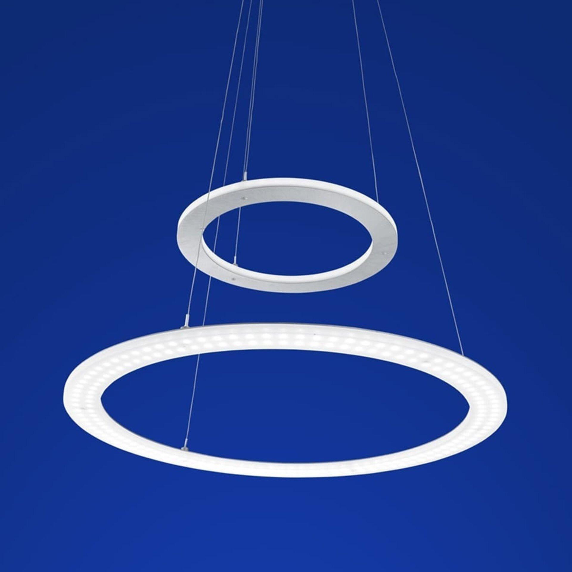 Hängeleuchte Mica B-Leuchten Metall silber 50 x 130 x 50 cm