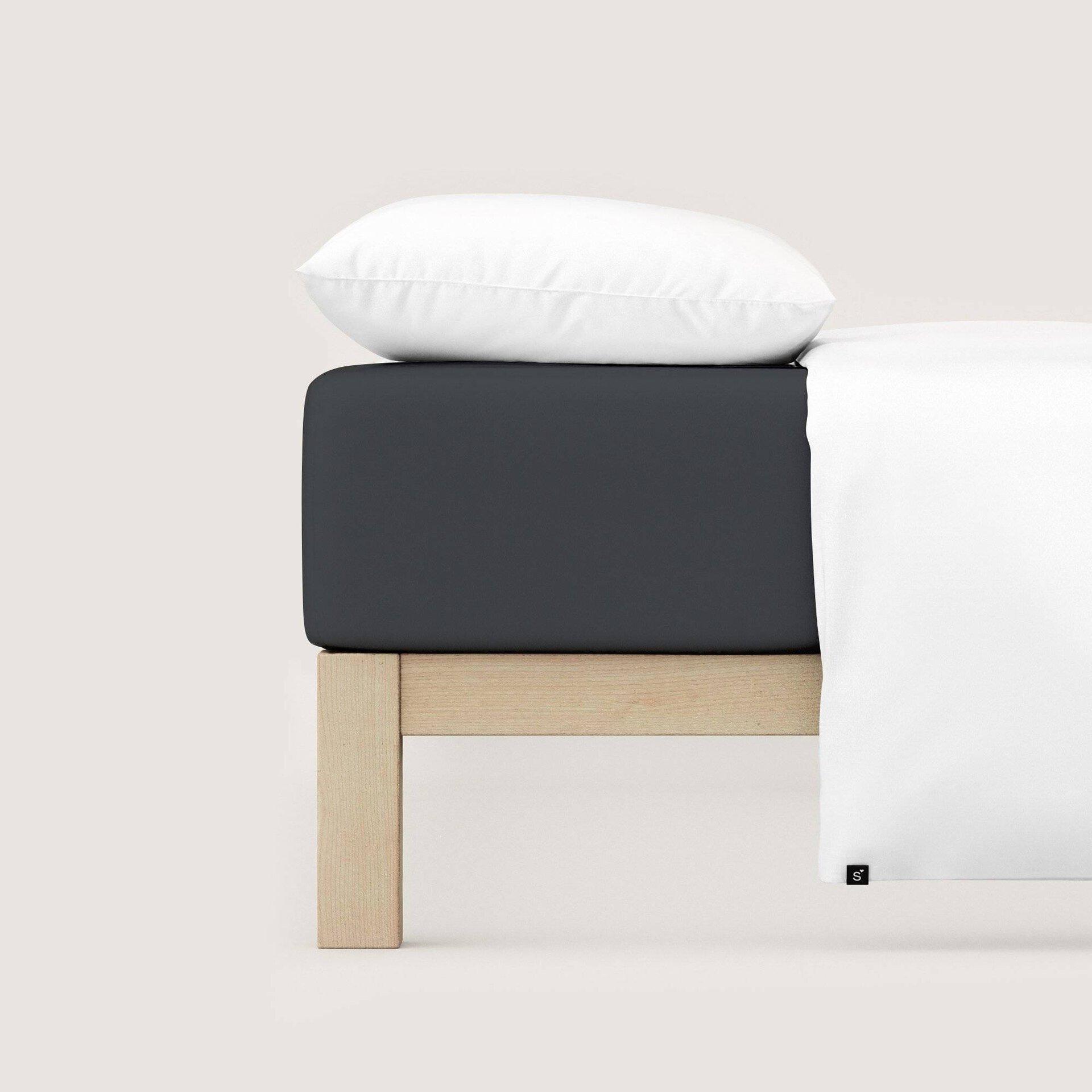 Jersey-Spannbetttuch Schlafgut Textil grau 150 x 200 cm