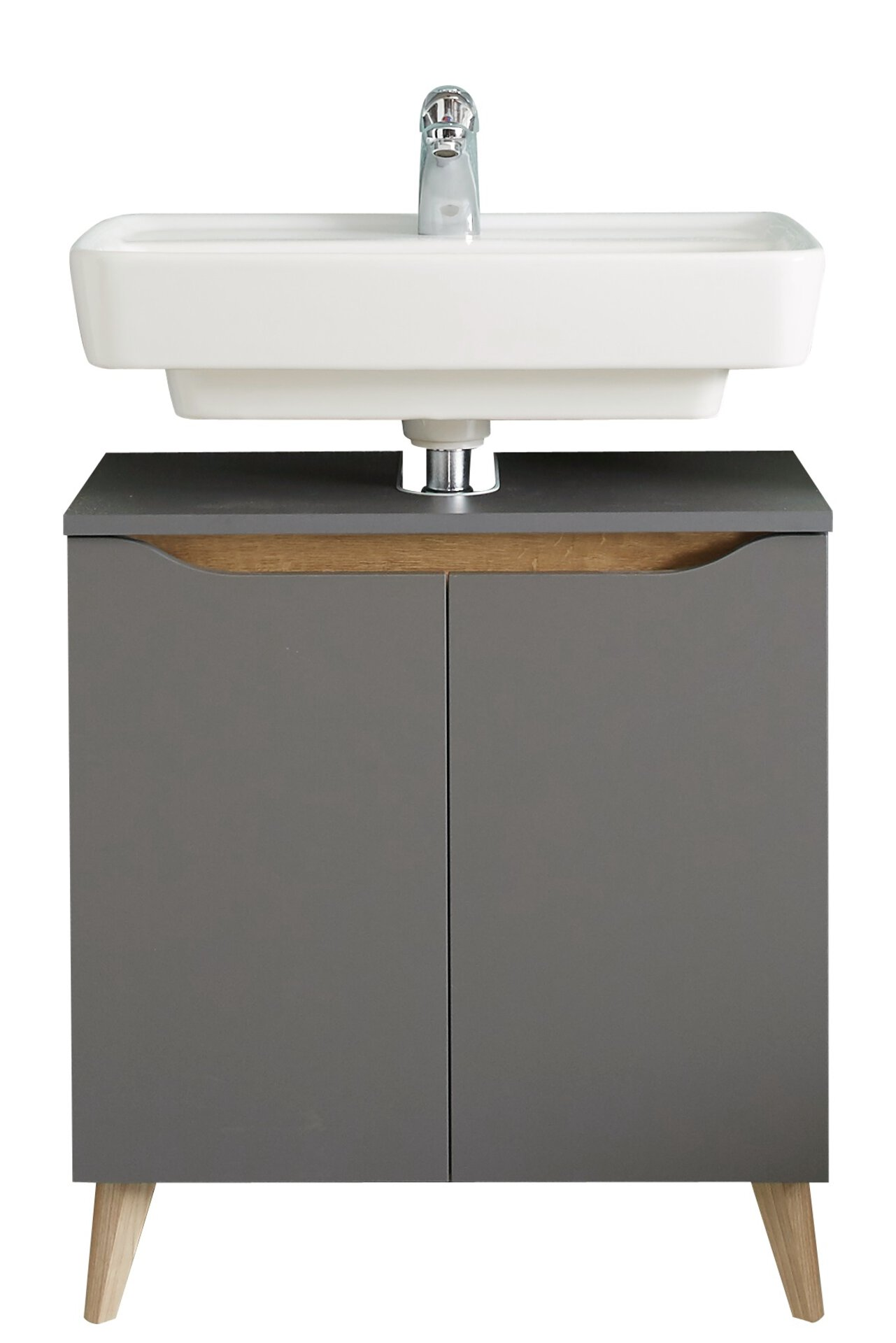 Waschbeckenunterschrank Capri PELIPAL Holzwerkstoff grau