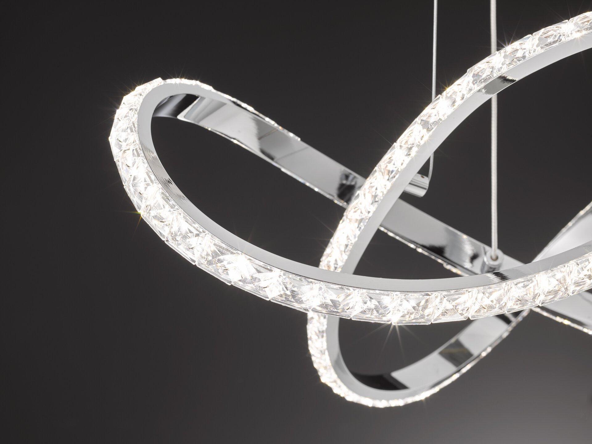 Hängeleuchte Prisma Wofi Leuchten Metall silber 55 x 120 x 55 cm