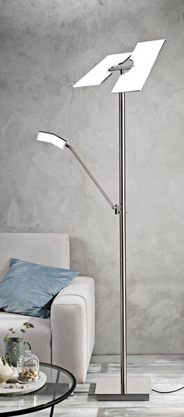 Stehleuchte Casa Nova Metall nickel-matt ca. 39 cm x 178 cm x 39 cm