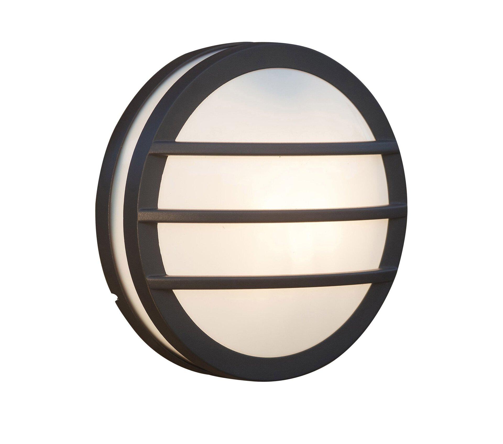 Wand-Aussenleuchte Seine Eco-Light Metall grau 26 x 10 x 26 cm